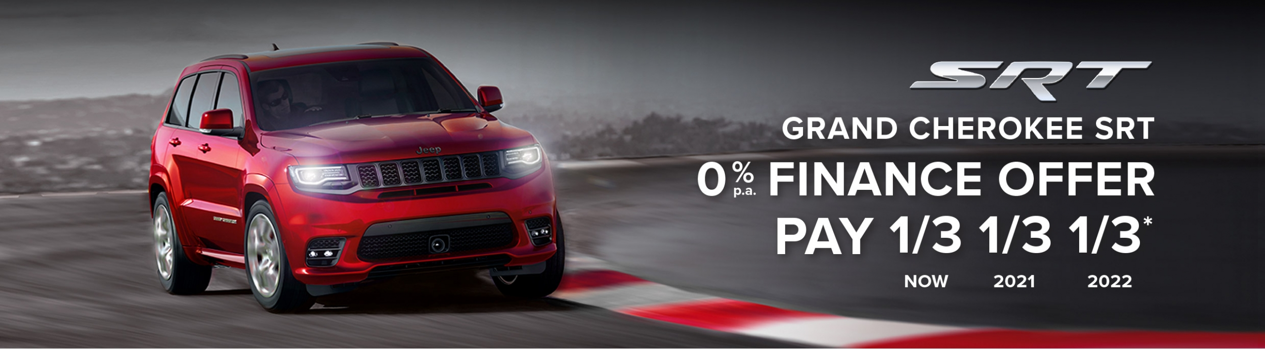 Jeep Grand Cherokee SRT 0% Finance offer